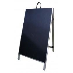 """48"""" PVC A-Frame Sign - Chalkboard Black Panels"""
