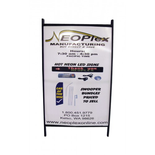 Steel A-Frame Sidewalk Sign-Posters (NSS-2436PO) - by www ...