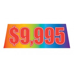 Rainbow Red Price Banners For Car Lots