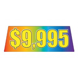 Rainbow Yellow Price Banners For Car Lots
