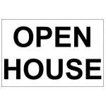 Open House Real Estate Banner Sign 2'x3'