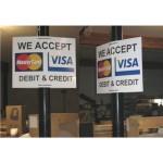 Pole Sign Visa/Mastercard