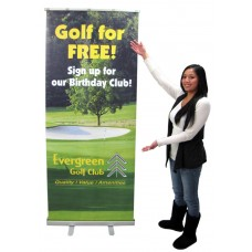 Roll-Up Banner Stand With Graphic