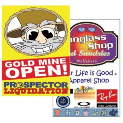 Walk Around Sandwich Board With Full Color Posters