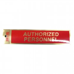 Gold Authorized Personnel Policy Business Sticker