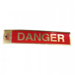Gold Danger Policy Business Sticker