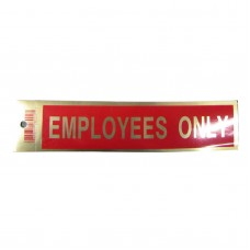 Gold Employees Only Policy Business Sticker