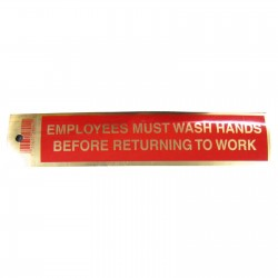 Gold Employees Must Wash Hands Policy Business Sticker