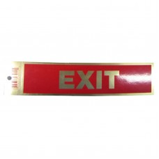 Gold Exit Policy Business Sticker