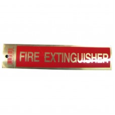 Gold Fire Extinguisher Policy Business Sticker