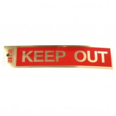 Gold Keep Out Policy Business Sticker