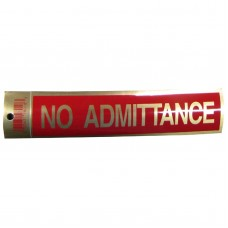 Gold No Admittance Policy Business Sticker