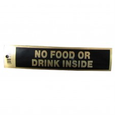 Gold No Food Or Drink Inside Policy Business Sticker