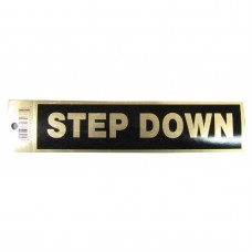 Gold Step Down Policy Business Sticker