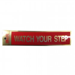 Gold Watch Your Step Policy Business Sticker