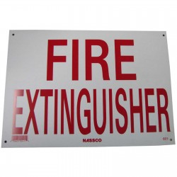 Fire Extinguisher Policy Business Sign