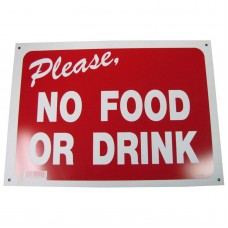 No Food Or Drink Policy Business Sign