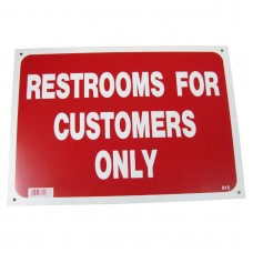 Restrooms For Customers Only Policy Business Sign