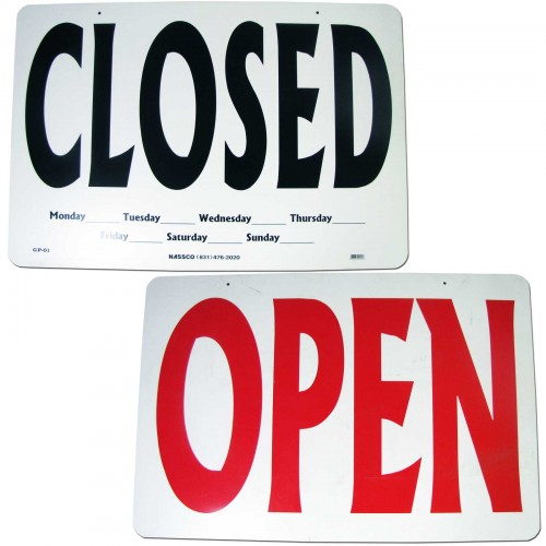 open  closed double sided business sign  sign-gp01