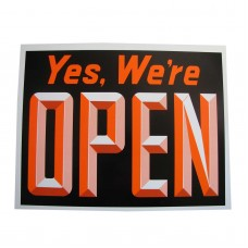 Open/Closed (Orange & Black) Policy Business Sign