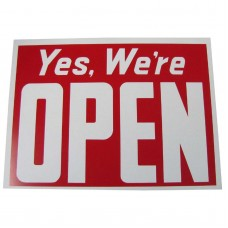 Yes We're Open/Closed Business Sign