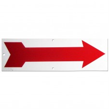 Red Arrow Policy Business Sign