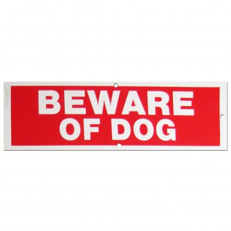 Beware Of Dog Policy Business Sign