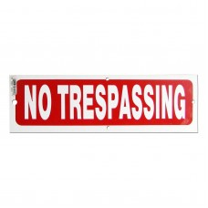 No Trespassing Policy Business Sign