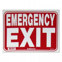 Emergency Exit Policy Business Sign
