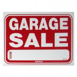 Garage Sale Policy Business Sign