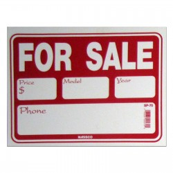 For Sale (Yr/Model/Phone) Policy Business Sign