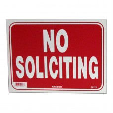 No Soliciting Policy Business Sign