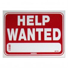 Help Wanted Policy Business Sign