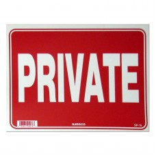 Private Policy Business Sign