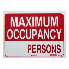 Maximum Occupancy___ Persons Policy Business Sign