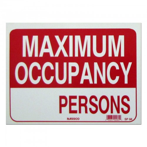 Maximum Occupancy___ Persons Policy Business Sign (SIGN
