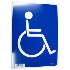 Handicapped Symbol Policy Business Sign