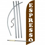 Espresso Brown Windless Swooper Flag Bundle