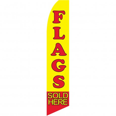Flags Sold Here Yellow Swooper Flag