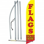 Flags Sold Here Yellow Swooper Flag Bundle