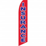 Insurance Red Blue Swooper Flag