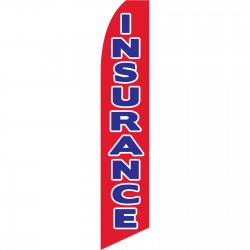 Insurance Red Blue Swooper Flag