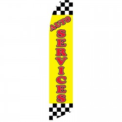 Auto Services Yellow Swooper Flag