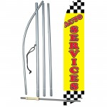 Auto Services Yellow Swooper Flag Bundle