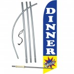 Dinner Special Blue Windless Swooper Flag Bundle