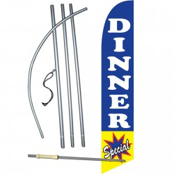 Dinner Special Blue Windless Swooper Flag Bundle