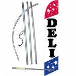 Deli Patriotic Windless Swooper Flag Bundle