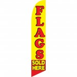 Flags Sold Here Yellow Windless Swooper Flag
