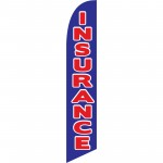 Insurance Blue Red Windless Swooper Flag