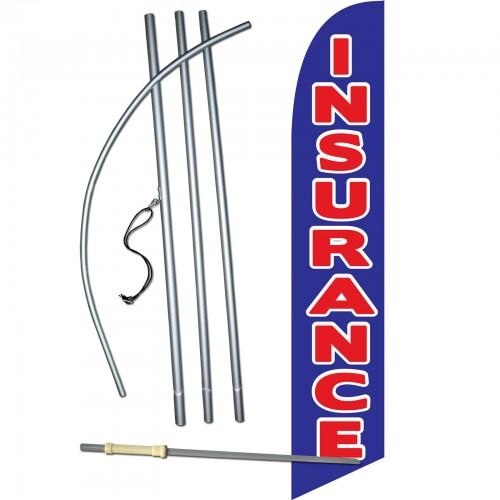Insurance Blue Red Windless Swooper Flag Bundle Sw10014 4dlx Sgs By Www Neoplexonline Com